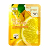Тканевая маска для лица с экстрактом лимона Fresh Lemon Mask Sheet