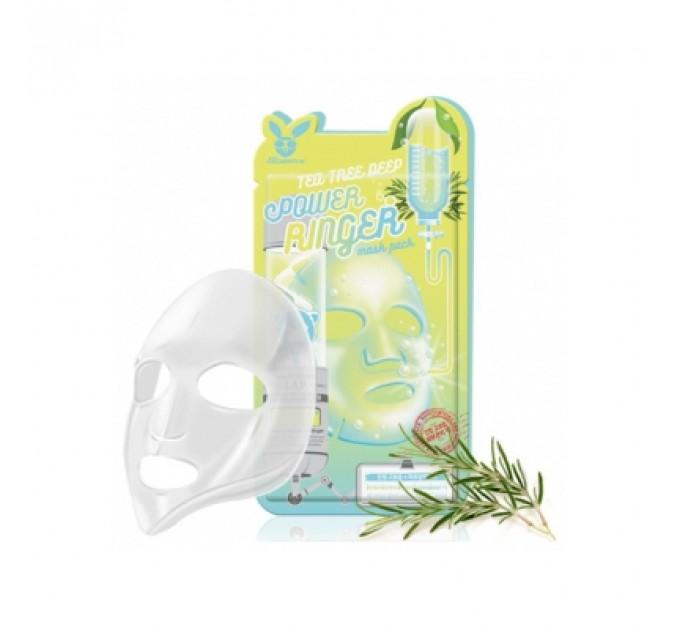 Успокаивающая такневая маска с чайным деревом Deep Power Ringer Mask Pack Tea Tree