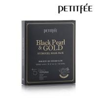 Гидрогелевая маска для лица с черным жемчугом Black Pearl & Gold Hydrogel Mask Pack